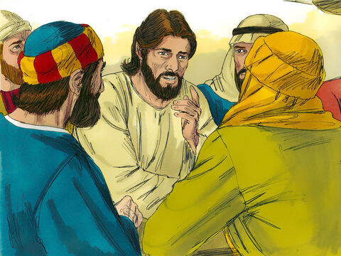 Once, while eating with them, Jesus commanded, 'Do not leave Jerusalem, but wait for the gift my Father promised, which I have spoken about. John baptised with water, but in a few days you will be baptised with the Holy Spirit.' – Slide 2