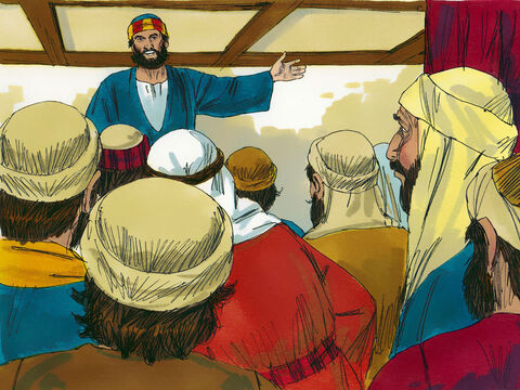Peter stood up in the group of around 120 believers, to talk about a replacement for Judas who had betrayed Jesus. The prophecies about this incident in Psalm 69:25 and Psalm 109:8 stated 'May another take his place of leadership.' – Slide 7