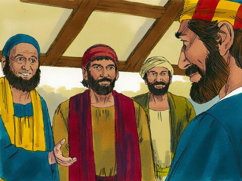 Peter said the replacement must be chosen from those who had been with Jesus from the time He was baptised by John to His resurrection. The new apostle would be a witness to the fact Jesus was alive. Two men Joseph, called Barsabbas (also known as Justus) and Matthias were nominated. – Slide 9