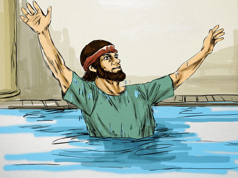 They went to the pool because it was believed that from time to time an angel of the Lord stirred the waters and the first one into the pool would be healed. – Slide 2