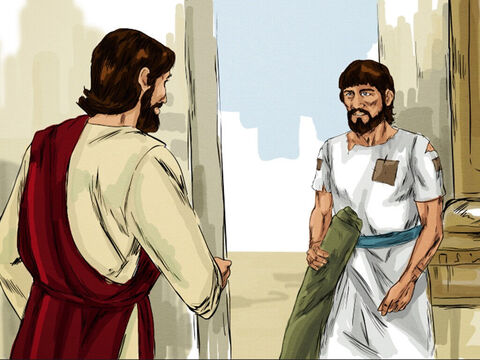 Later Jesus found him at the temple and said to him, 'See, you are well again. Stop sinning or something worse may happen to you.' – Slide 7