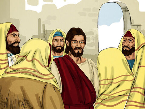 The Jewish leaders hunted Jesus down to attack him for breaking one of their Sabbath day rules. – Slide 9