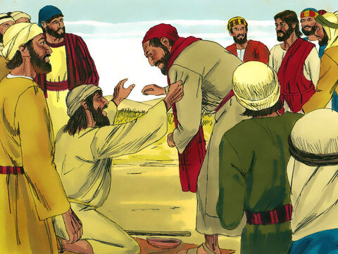 When a blind beggar cries out to Jesus those around him tell him to be quiet but Jesus stops to heal him. (Luke 18:35-43) – Slide 2