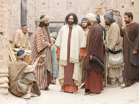 As Jesus was walking through Jerusalem he saw a man who had been born blind. – Slide 1