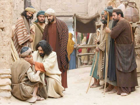 His disciples asked, 'Teacher, is this man blind because he did wrong or was it that his parents did wrong?' 'His blindness is not because of his sin or his parents,' Jesus replied. – Slide 2