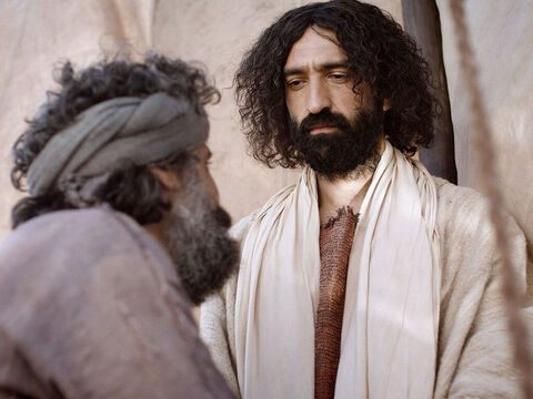 When Simon Peter saw this, he fell at Jesus' feet and said, 'Go away from me, Lord; I am a sinful man!' – Slide 9