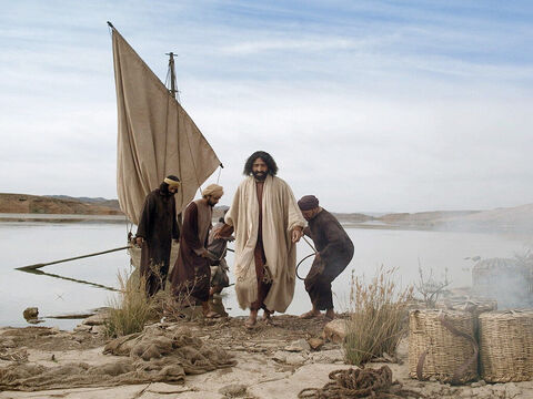 Having moored their boats they left everything and followed Jesus. – Slide 13