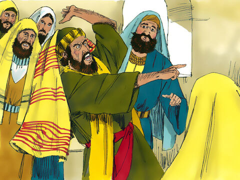 Among those in the synagogue was a man who was possessed by an evil spirit. As Jesus was speaking he got up and started shouting, 'Go away! We want nothing to do with you, Jesus from Nazareth. You have come to destroy us. I know who you are—the Holy Son of God.' – Slide 3