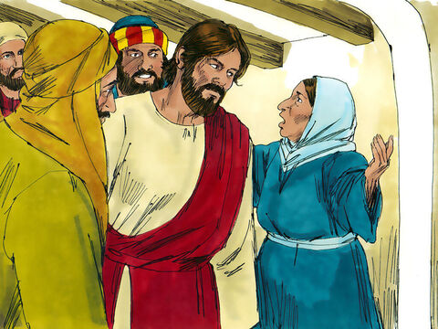 Jesus left the synagogue and went to the home of Simon (later called Peter). Now Simon's mother-in-law was suffering from a high fever, and they asked Jesus to help her. – Slide 7