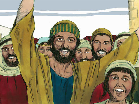 At sunset, at the end of the Sabbath day, crowds of people came to Jesus to bring those who were sick. – Slide 9