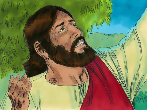 The next morning Jesus was up long before daybreak and went out alone into the wilderness to pray. – Slide 11