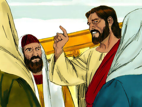 Every day, while Jesus was at the feast of the Passover, He taught in the Temple courtyard. – Slide 1