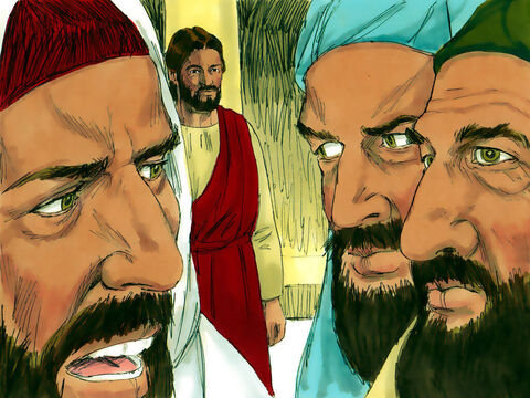Some Pharisees and supporters of Herod came up with a plan to trick Jesus into saying something that would so upset the Romans they would put Him to death. They sent spies, pretending to be sincere listeners, to ask Jesus a question. – Slide 4