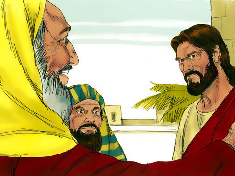 Those listening knew Jesus was trapped. If He said it was right to pay taxes to Caesar then He would become very unpopular with the crowds who hated paying taxes to the Romans. – Slide 7