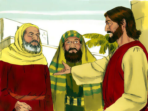 If Jesus said it was wrong to pay taxes to Caesar then the Romans would arrest Jesus as a rebel and put Him to death. Jesus knew these spies were trying to trick Him. He answered, 'Show me a denarius coin.' – Slide 8
