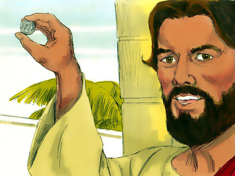 'Whose image do you see on it?' Jesus asked 'Caesar's,' came the reply. – Slide 10