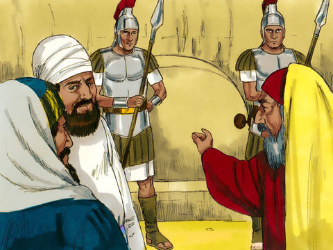 The tomb was sealed and a guard set on it. – Slide 15