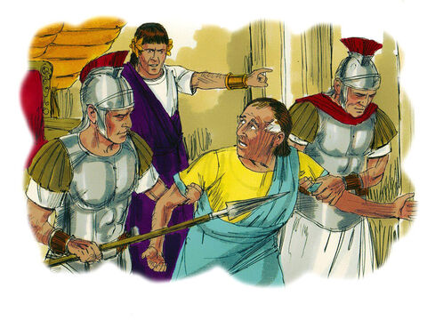 'They will put you in prison, and you will be brought before kings and governors, and all on account of my name. – Slide 8