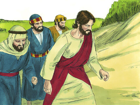 The feast of Passover was approaching. Jesus led the disciples on the long uphill route towards Jerusalem. – Slide 1