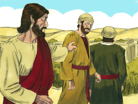 """If anyone asks you what you are doing tell them, """"The Lord needs it and will return it.""""' The two disciples set off immediately. – Slide 3"""