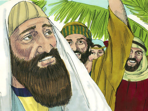Some of the Pharisees in the crowd said to Jesus, 'Teacher, tell your disciples to stop shouting.' – Slide 10