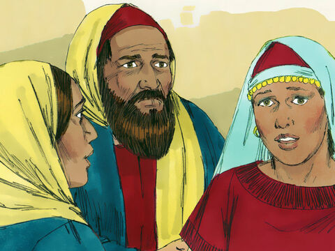 Lazarus lived in Bethany with his two sisters Mary and Martha. – Slide 1