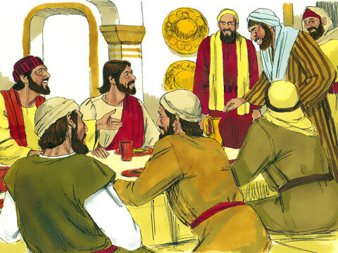 Later, Matthew held a banquet in his home with Jesus as the guest of honor. Many of Levi's fellow tax collectors and other guests also ate with them.  – Slide 4