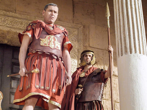 'Are you the King of the Jews?' Pilate demanded. – Slide 2