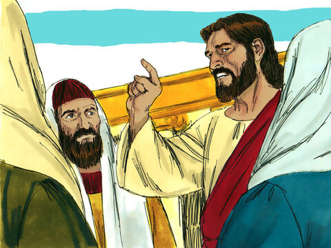 A crowd soon gathered and Jesus started teaching them. – Slide 2