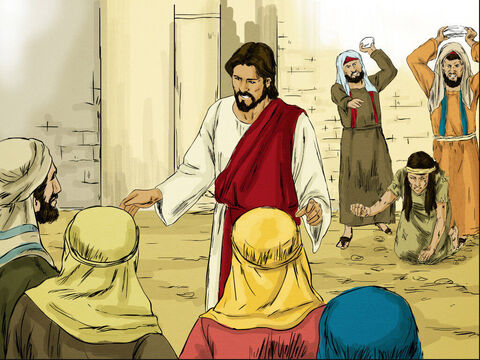 'Teacher,' they said to Jesus, 'this woman was caught in the very act of adultery. Moses' law says she should be stoned to death. What do you say about this?' – Slide 4