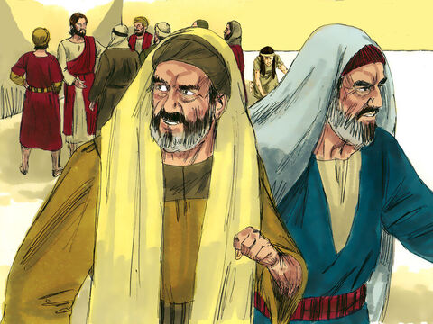 Then one by one the Jewish leaders and Pharisees started to leave. The oldest ones left first. – Slide 7