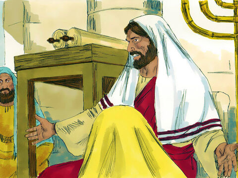 Jesus then announced, 'Today the scripture I have read has happened.'Jesus was claiming He was the one God had promised to sent to save them. He was the Messiah. – Slide 5