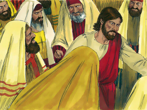 But Jesus turned and walked through the angry mob and went on His way. – Slide 11