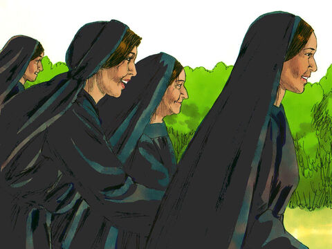 So the women hurried away from the tomb, afraid yet filled with joy, and ran to tell His disciples. – Slide 7