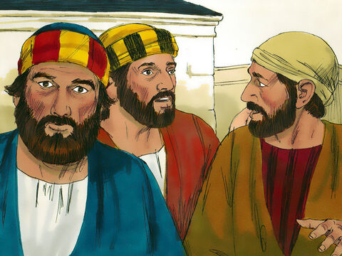When the disciples heard this, they were astonished and asked, 'Who then can be saved?' – Slide 7