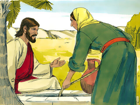 Jesus asked her for a drink of water. 'You are a Jew, and I am a Samaritan,' she protested. 'How can you ask me for a drink?' She knew Jews refused to use the same cups and bowls that Samaritans used. – Slide 4