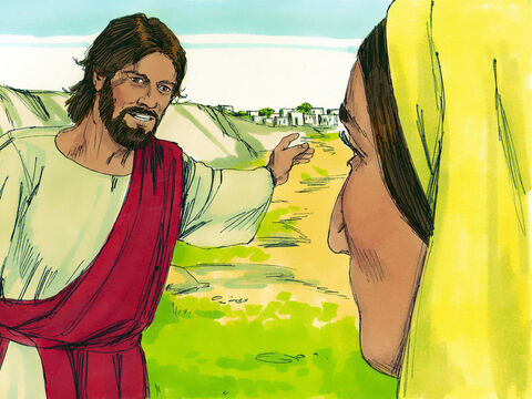 'Give me that water so I will never be thirsty again,' the woman demanded.'Go and call your husband,' Jesus told her, 'and come back.''I don't have a husband,' she protested. – Slide 7