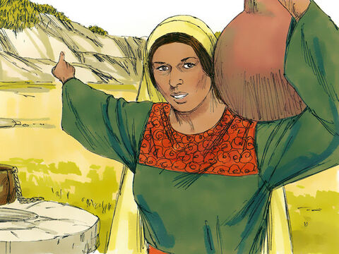 She continued, 'Samaritans worship God on this mountain, but you Jews say that Jerusalem is the place where we should worship God.' – Slide 9