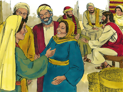 The Samaritans came out to meet Jesus and begged Him to stay with them. Jesus stayed there two days and many believed that Jesus was the Messiah. They told the woman, 'We believe because we too have heard Him, and we know that He really is the Saviour of the world.' – Slide 13