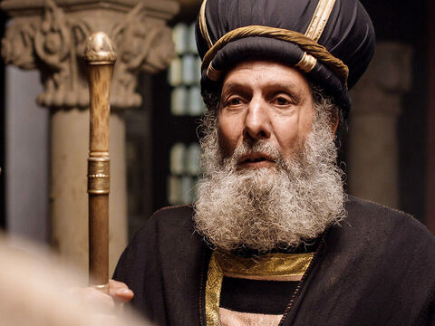 Caiaphas the High Priest intervened. 'I charge you under oath by the Living God, tell us if you are the Messiah, the Son of God.' – Slide 4