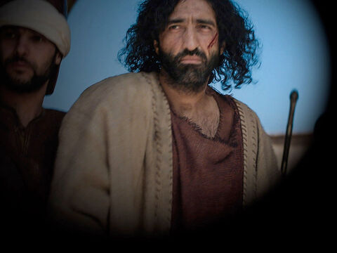 In the early morning, Jesus was then led off to face Pilate the Roman Governor. – Slide 8
