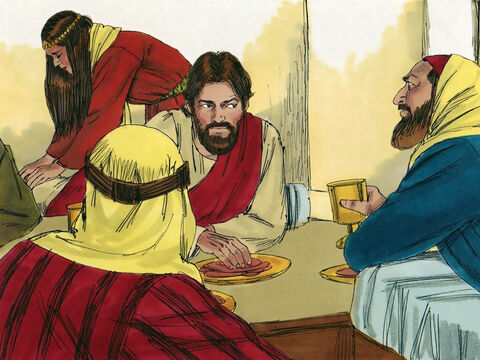 When Simon the Pharisee saw what was happening he thought, 'This proves that Jesus is not a prophet. If God had really sent Him, He would know what kind of woman this is!' – Slide 5