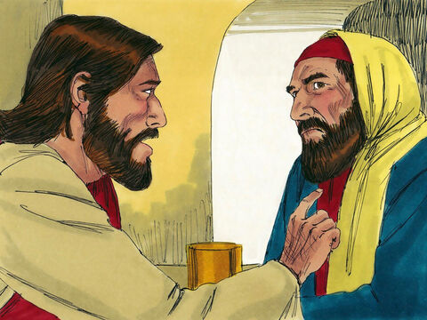 Jesus knew what His host was thinking. 'Simon,' He said to the Pharisee, 'I have something to say to you.''All right, Teacher,' Simon replied, 'go ahead.' – Slide 6