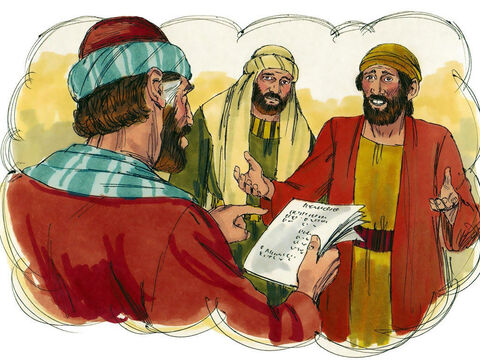 Jesus told Simon this story: 'A man loaned money to two people—500 denarii to one and 50 denarii to the other. (A denarii was a day's pay). But neither of them could pay him back. – Slide 7