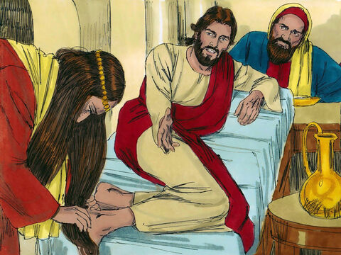 'I suppose it was the one who had owed him the most,' Simon answered.'Correct,' Jesus agreed. – Slide 9
