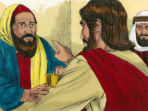 Then Jesus turned to the woman and said to Simon, 'Look at this woman kneeling here! When I entered your home, you didn't wash the dust from my feet, but she has washed them with her tears and wiped them with her hair. You refused me the customary kiss of greeting, but she has kissed my feet again and again. – Slide 10
