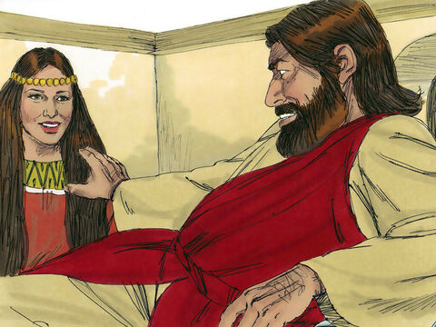 Jesus said to the woman, 'Your faith has saved you. Go in peace.' – Slide 13