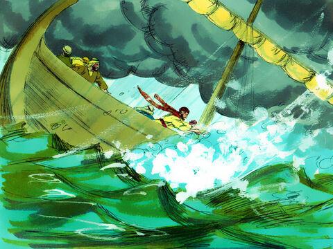 Galilee is surrounded by very high hills and strong winds can descend off these down into the lake causing violent storms. A furious squall suddenly blew up and big waves broke over the boat. – Slide 5
