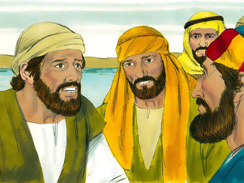 The disciples were terrified and amazed at the power of Jesus. 'Who is this?' they asked each other. 'Even the wind and waves obey him!' – Slide 10