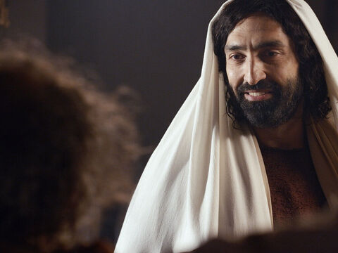 The man stood before Jesus completely delivered. – Slide 14